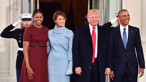 Los looks de Michelle Obama y Melania Trump