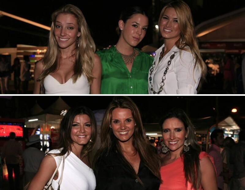 Guapas en el Abierto de Tenis de Acapulco: Renata Coltro, Aileen Rojo, María Elena Torruco, Montserrat Esparza, Maritere Alessandri y Carolina Elizaldi.