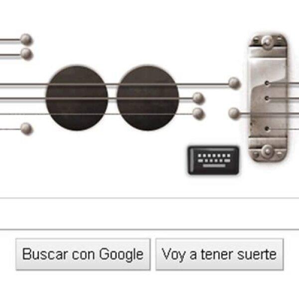 El 9 de julio de 2011 este 'doodle' interactivo recordó a los usuarios el aniversario 96 del nacimiento de Les Paul, el inventor de la guitarra eléctrica.