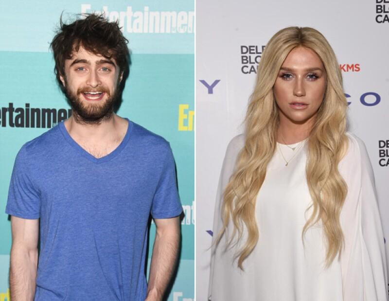 Daniel Radcliffe y Kesha salieron airosos de sus respectivas terapias.