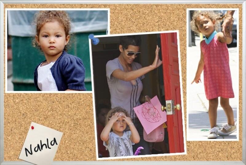 Nahla es una niña muy `cool´ que bien podría hacerle competencia a Suri.