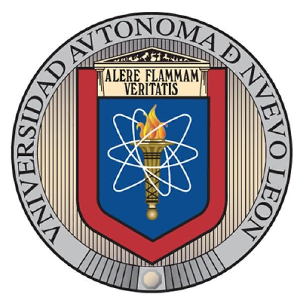 """El logo de la Universidad Autónoma de Nuevo León refleja la visión del exrector Enrique Livas con la antorcha, flama, y elipse de electrón que acompañan la frase: Alentando la llama de la verdad""""."""