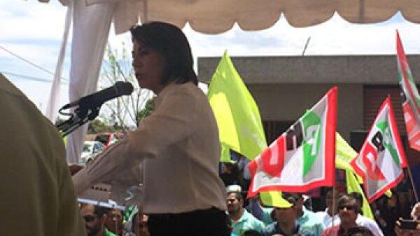 Lorena Martínez, candidata del PRI, fue alcaldesa de la capital de Aguascalientes. (Foto: CNNExpansión/Jennifer González)