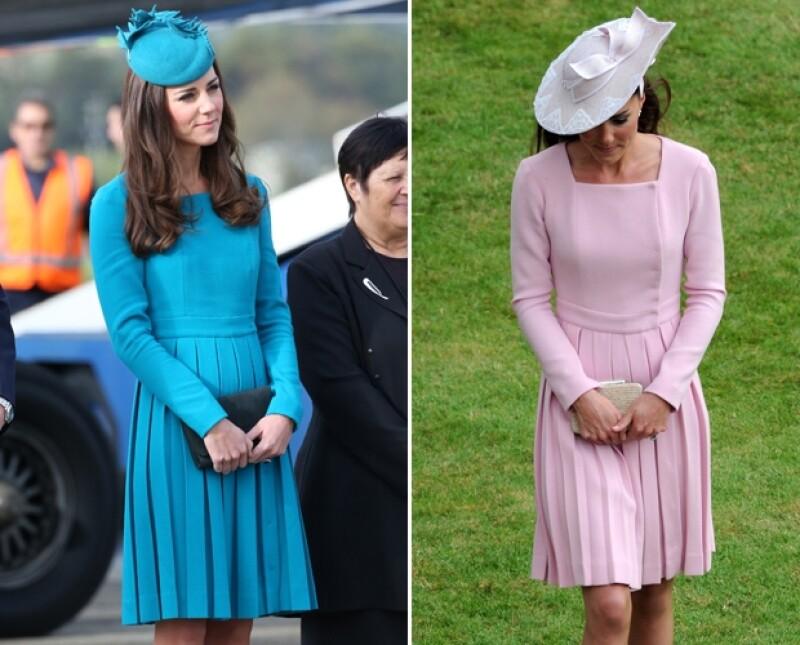 Kate ya había usado un vestido idéntico en el pasado, sólo cambió el color.