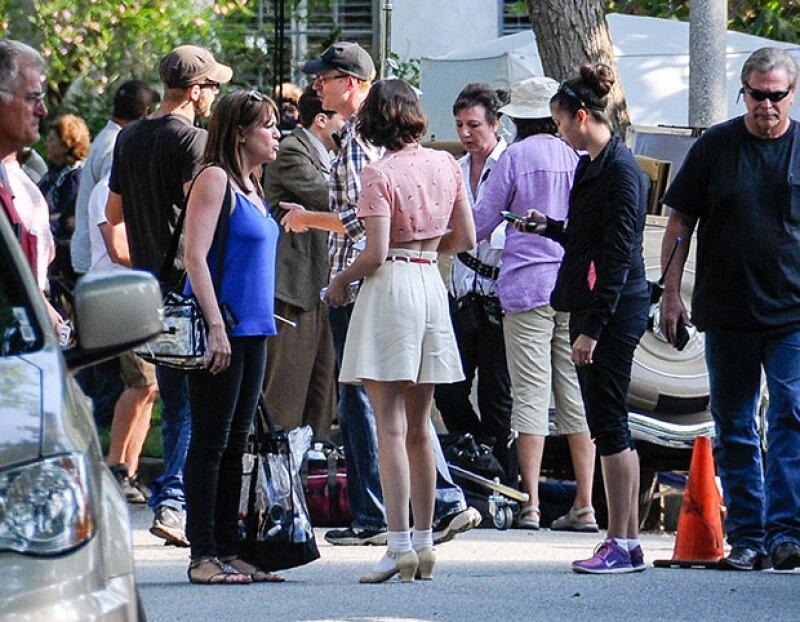 Kristen se veía incluso infantil en su outfit.