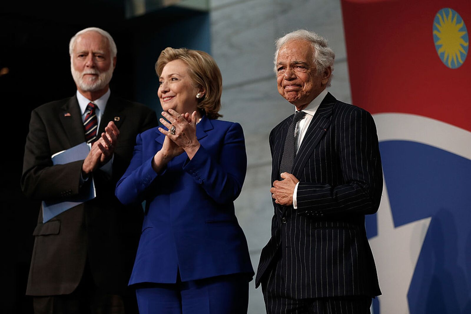 Jeh Johnson And Hillary Clinton Attend Naturalization Ceremony In DC