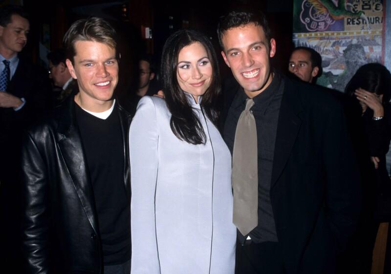 Matt Damon, Minnie Driver y Ben Affleck