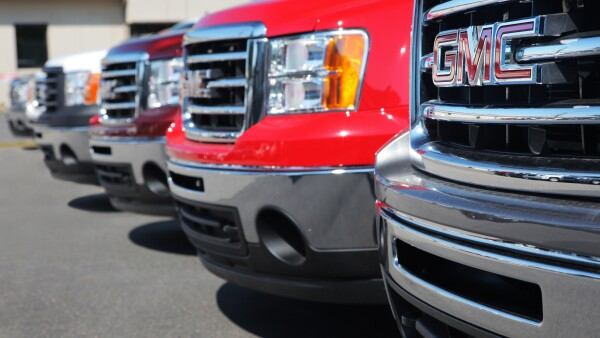 GM Trucks at Dealership