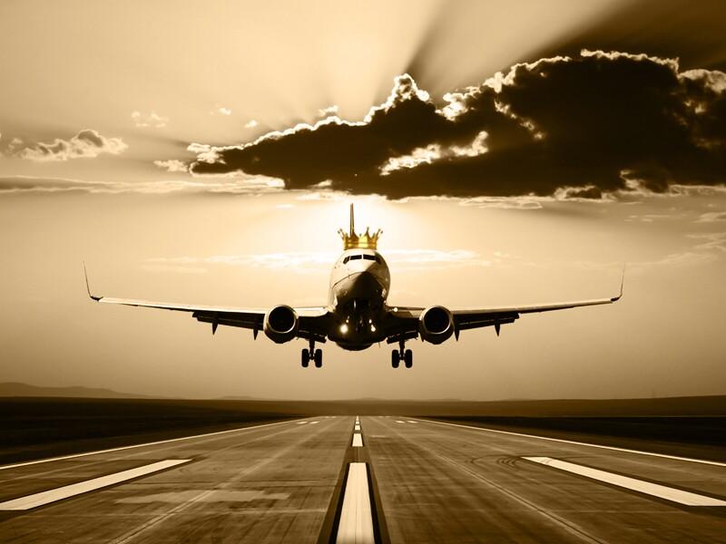 avion con corona
