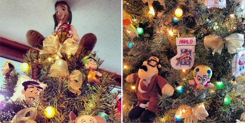 Así lucía el árbol de Navidad en casa de Graciela, madre de Ana Lorena y una de los seis hijos que tuvo el comediante.