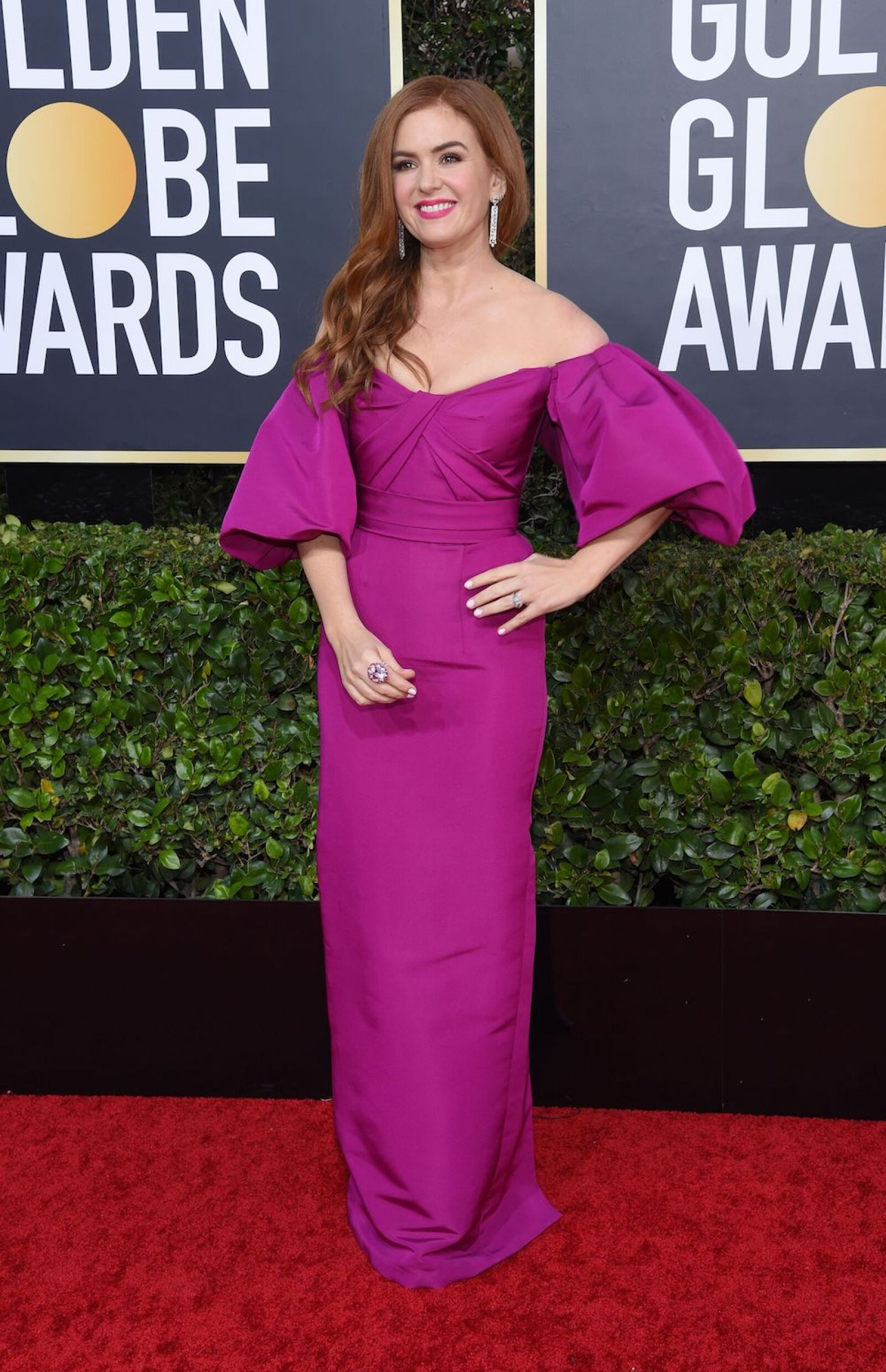 Isla Fisher en Monique Lhuillier