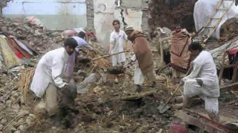 Lluvias derrumbe Behsud Nangarhar Afganistan