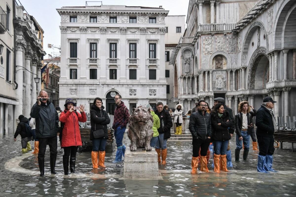 Acqua alta, así ocurrió la marea de casi dos metros en Venecia - Expansión