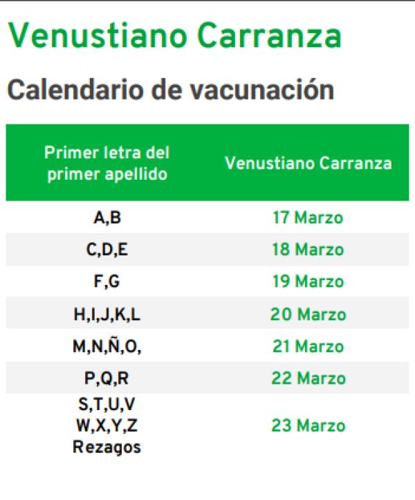 vacunación venustiano carranza