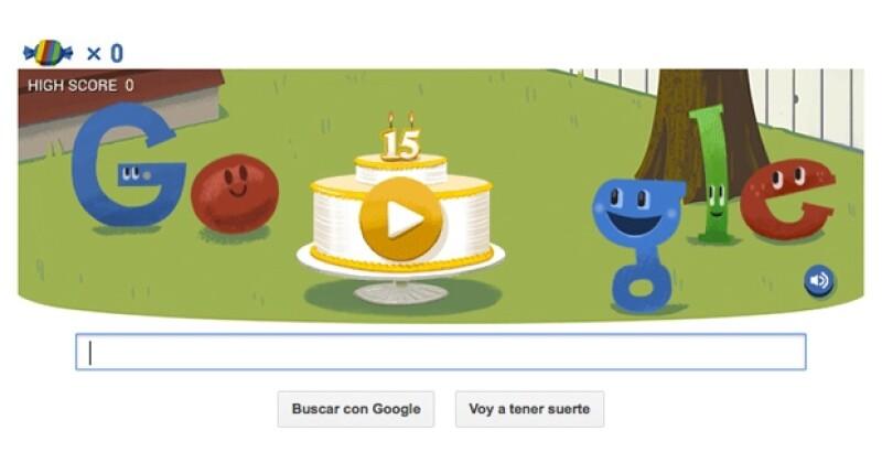 La tecnológica celebra su aniversario con un 'doodle' que tomó tres meses de trabajo mundial.