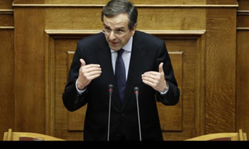 El líder de la oposición griega Antonis Samaras exigió la renuncia del primer ministro. (Foto: Reuters)