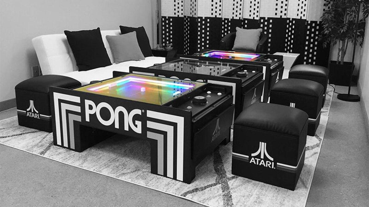 Llegó el Atari 2.0 con la nueva mesa de Pong
