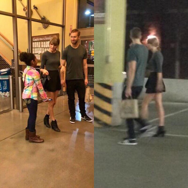 Aunque no aparecieron en plan romático Taylor Swift y Calvin Harris fueron vistos comprando comida juntos.