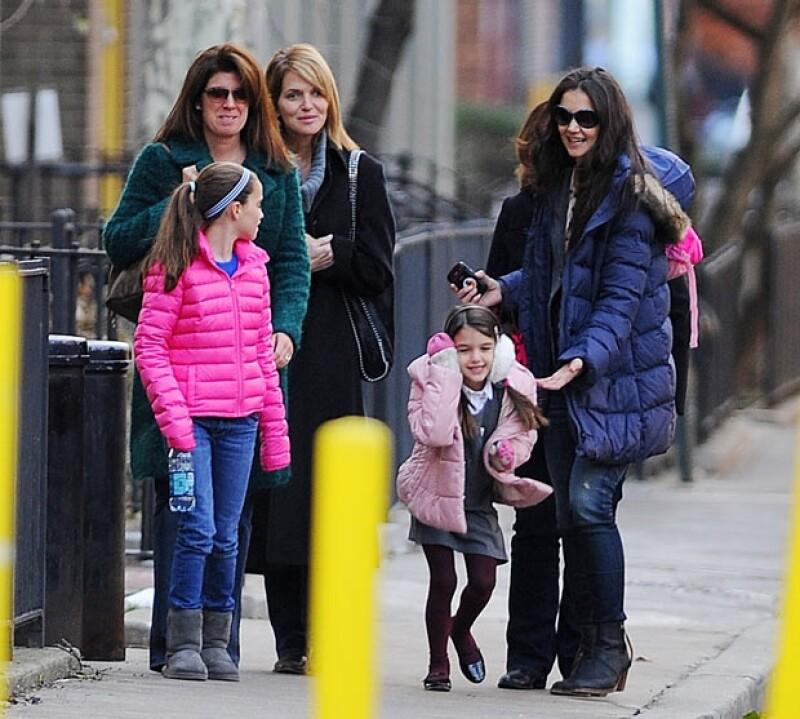 La hija de los actores pasó el fin de semana de Acción de Gracias con su papá, ahora es el turno de la mamá.