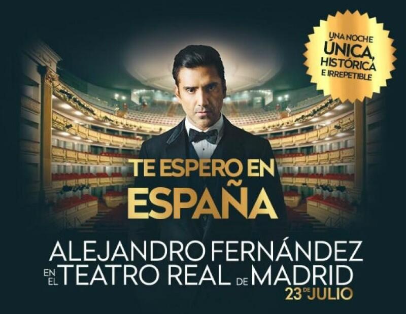 """""""El Potrillo"""" compartió su sentir por ser el primer artista pop mexicano en presentarse en el emblemático Teatro Real en Madrid, donde grabará su nuevo disco."""