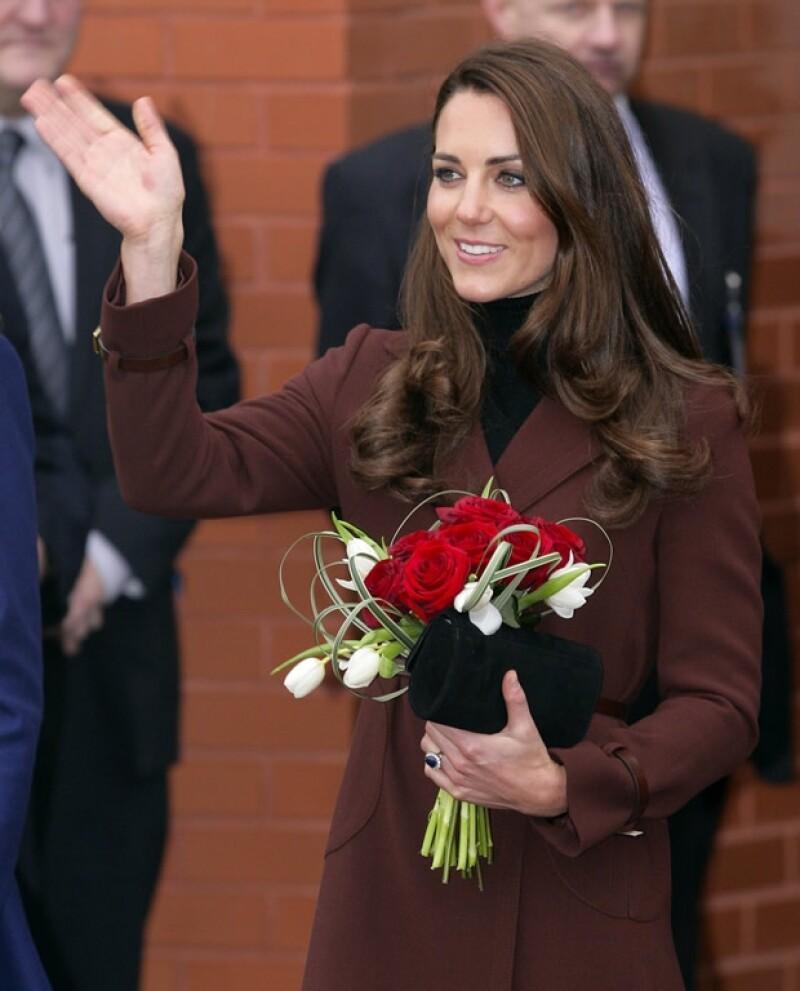 La Duquesa lució sonriente todo el tiempo.