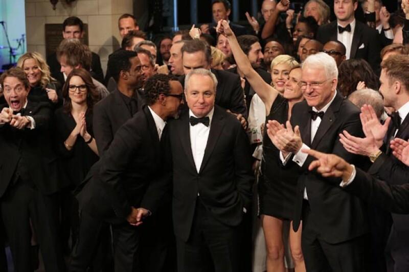Taylor Swift, Justin Timberlake, Kanye West, Tina Fey y Miley Cyrus son algunos nombres que se unen para festejar al exitoso show durante una emisión especial de tres horas.