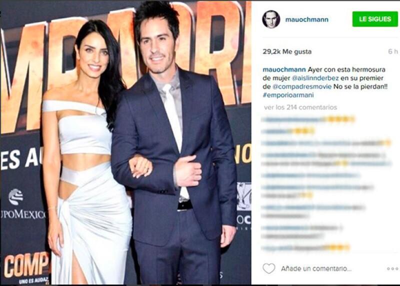Orgulloso de su futura esposa, Mauricio compartió esta foto en Instagram.