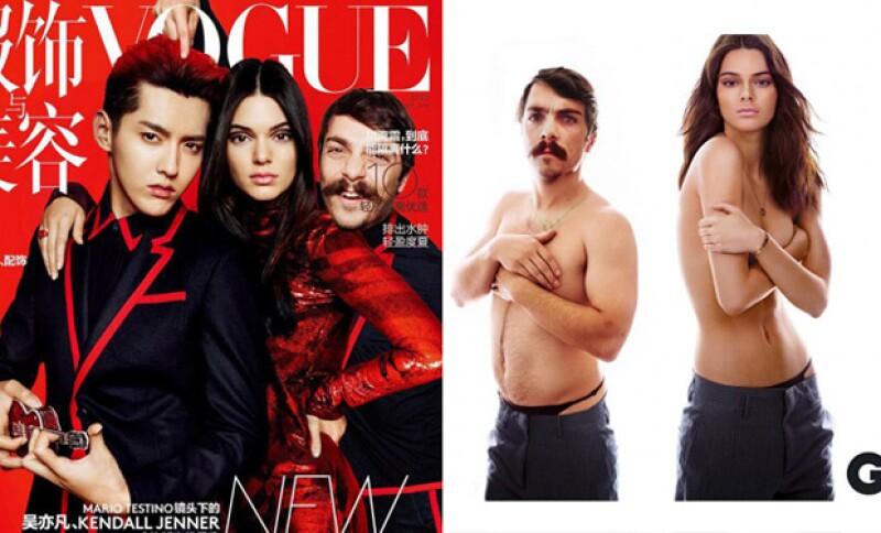 Dos de las portadas de revista que ha hecho la modelo.