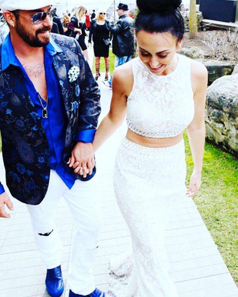 Jeremy Bieber celebró su compromiso con Chelsey Revelo en Toronto.