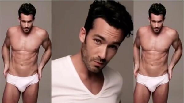 HOT! Una vez más, Aarón Díaz subió la temperatura de Instagram con un video en el que aparece con muy poca ropa.