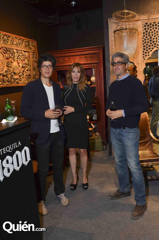 Bernardo López Morton, Edna Ampudia y Gabriel López Morton