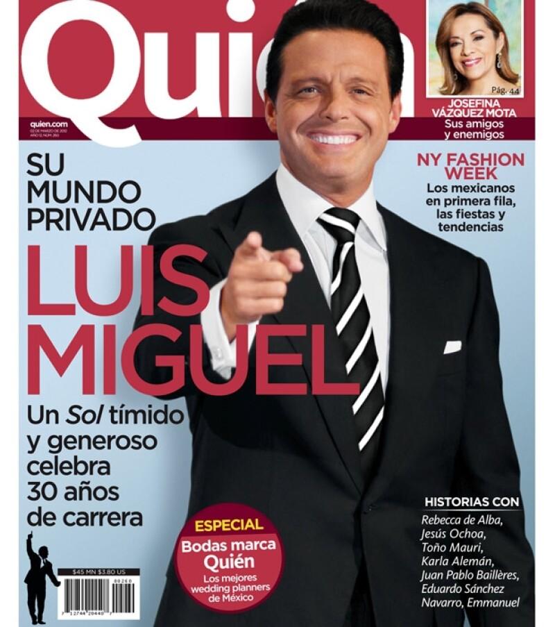 El cantante engalana la nueva portada de la revista Quién previo a su presentación en la Ciudad de México y la celebración de tres décadas de carrera.