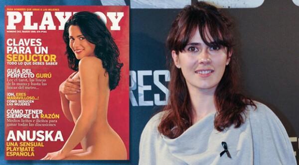 Anna en la portada de Playboy en 1997.