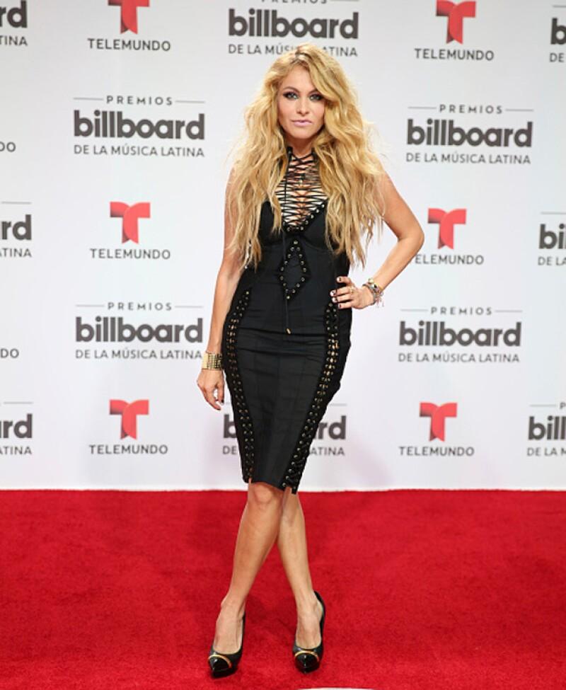 Tras el nacimiento de Eros, la cantante reapareció la noche de ayer en los premios Billboard, celebrados en Florida.