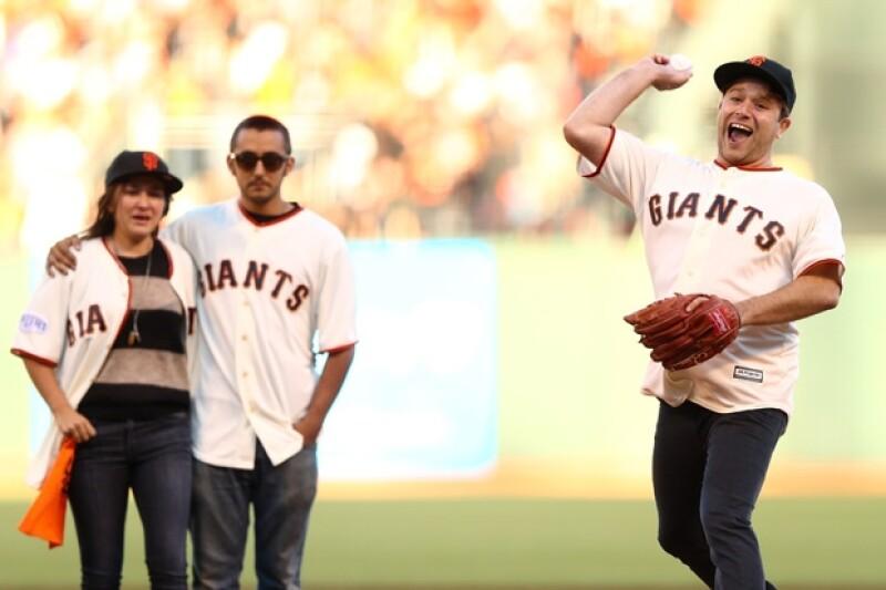 Los hijos de Robin se dieron cita en uno de los partidos de su equipo favorito, Los Gigantes de San Francisco.