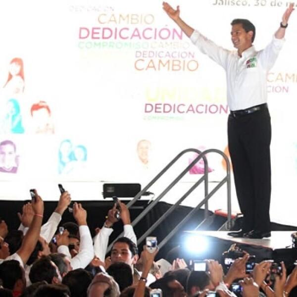 Peña Nieto inicia campaña en Guadalajara