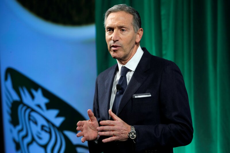 FILE PHOTO: Starbucks Chairman and CEO Schultz delivers remarks at the Starbucks 2016 Investor Day in Manhattan, New York