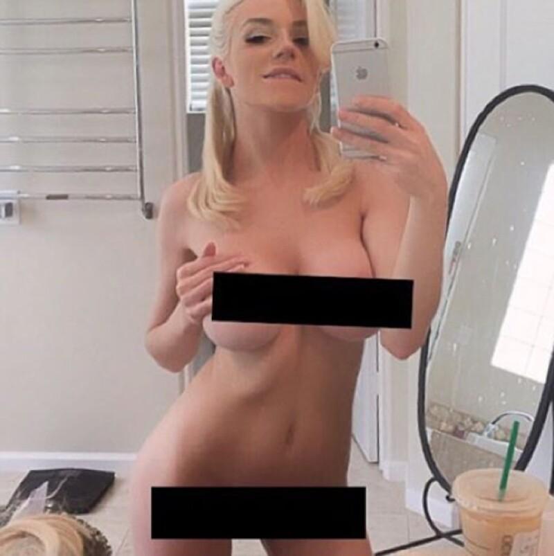 La modelo Courtney Stodden imitó a Kim prácticamente a la perfección.