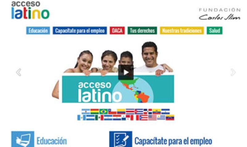 El portal ofrece cursos de inglés para los latinos en EU.(Foto: Tomada de accesolatino.org)