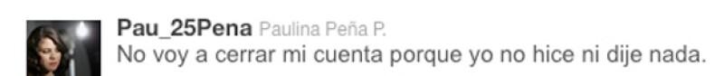 Uno de los tuits que Paulina habría posteado hace unos momentos.