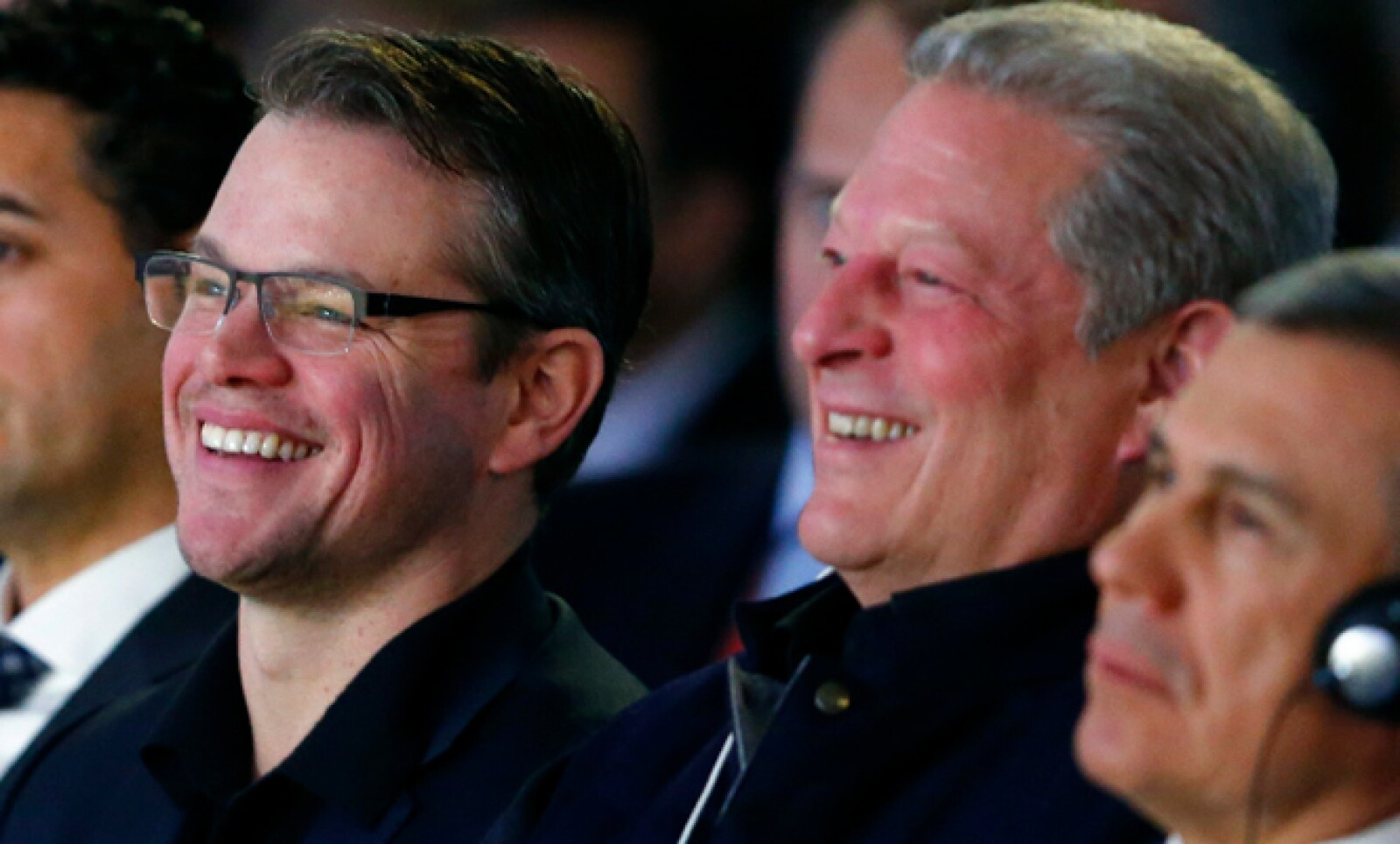 Entre los invitados a la Ceremonia Cristal se encontraban el exvicepresidente de EU Al Gore y el actor Matt Damon.