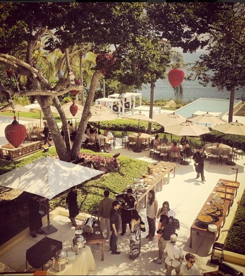 En el hotel Banyan Tree se celebró una espectacular comida.