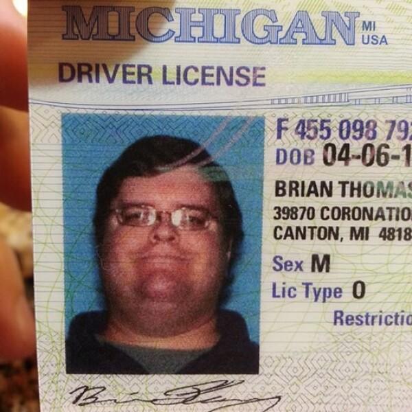 La foto de la licencia de conducir de Flemming, de Canton, Michigan, muestra la obesidad del hombre