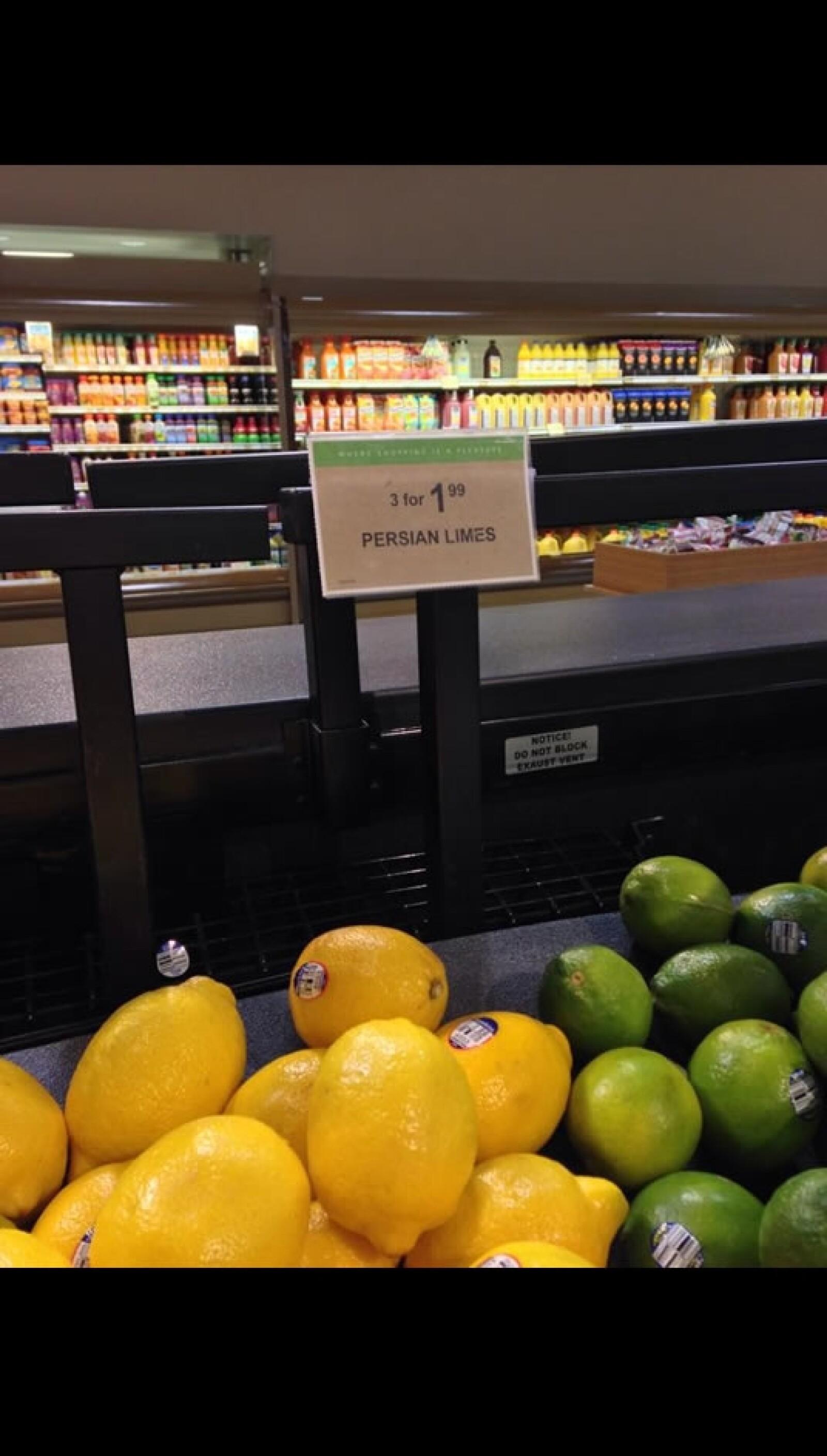 En este supermercado en Smyrna, Georgia, cada limón cuesta unos 66 centavos de dólar, es decir, poco más de 8 pesos mexicanos