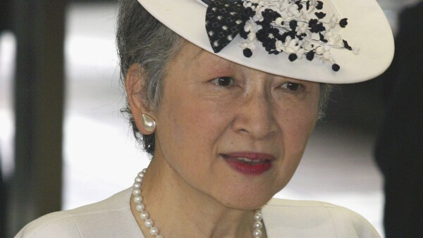 Empress Michiko Arrives At The Japanse Red Cross Society Meeting