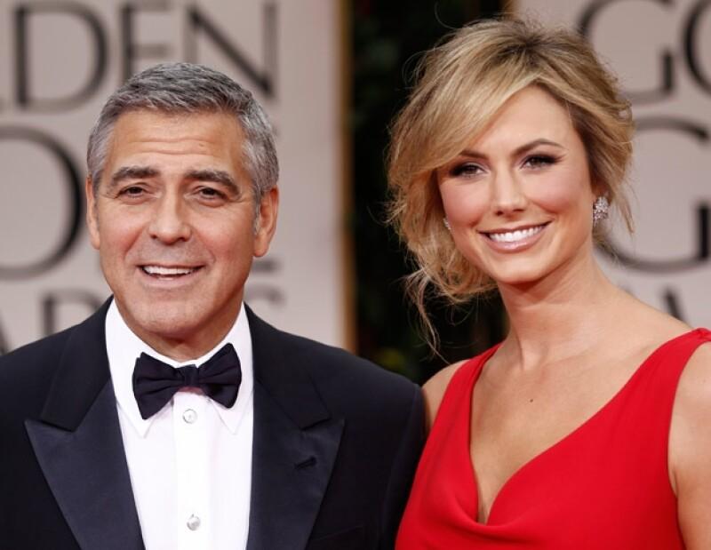 George Clooney y su novia Stacy Keibler fueron de los primeros en llegar a la alfombra roja.