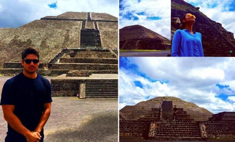 Esta semana Eiza fue la guapa guía de su novio en las pirámides de Teotihuacán.