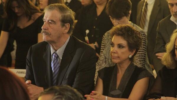 Vicente Fox, acompañado de Marta Sahagún, habló de los consejos que le dio Zambrano.