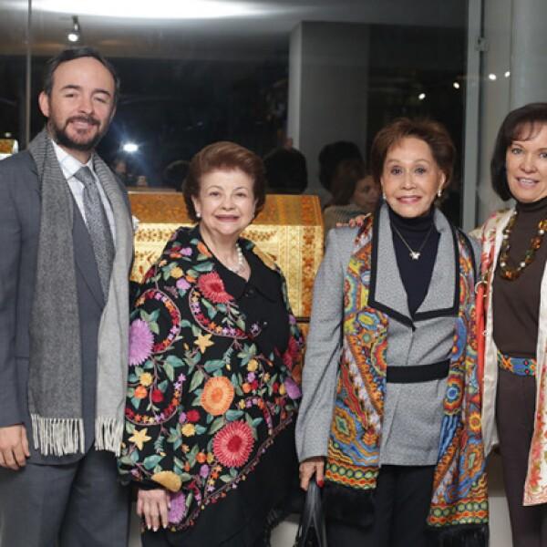 Fernando Velázquez,Adriana Borda,Elba Cervántez y Cecilia Moctezuma