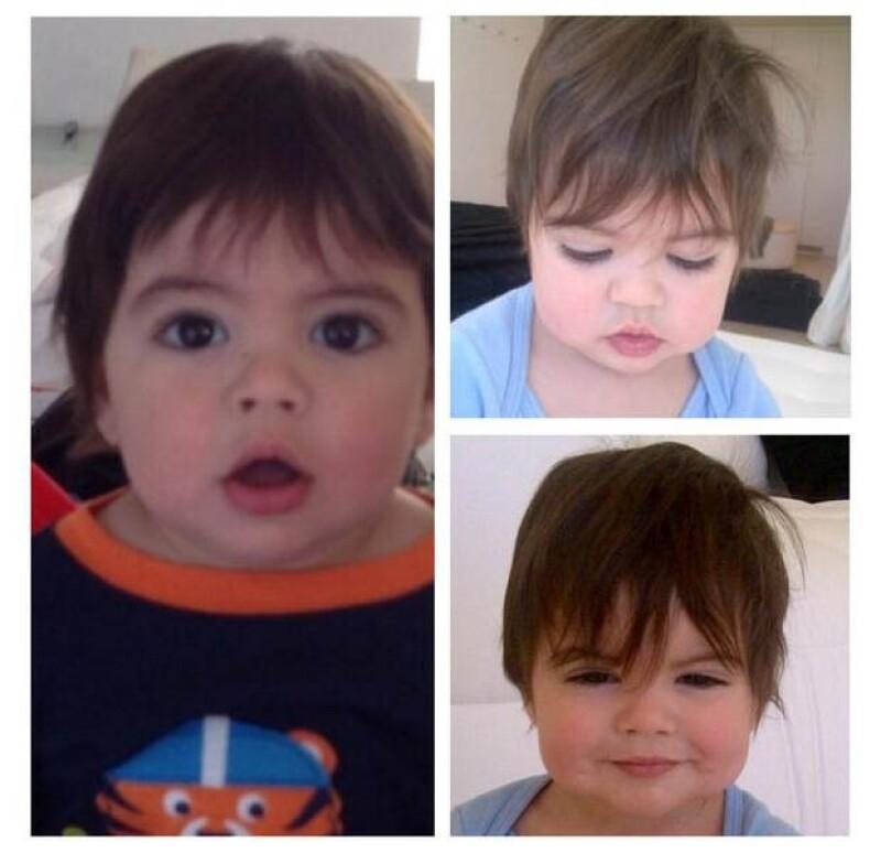 El pequeño Milan nació en enero de 2013.